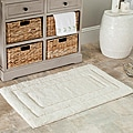 Safavieh Spa 2400 Gram Tri Natural Gram 27 x 45 Bath Rug (Set of 2)