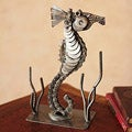 Handmade Recycled Auto Parts 'Lucky Seahorse' Sculpture (Peru)