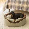 Soft Touch Faux Suede Oval Cuddler Pet Bed
