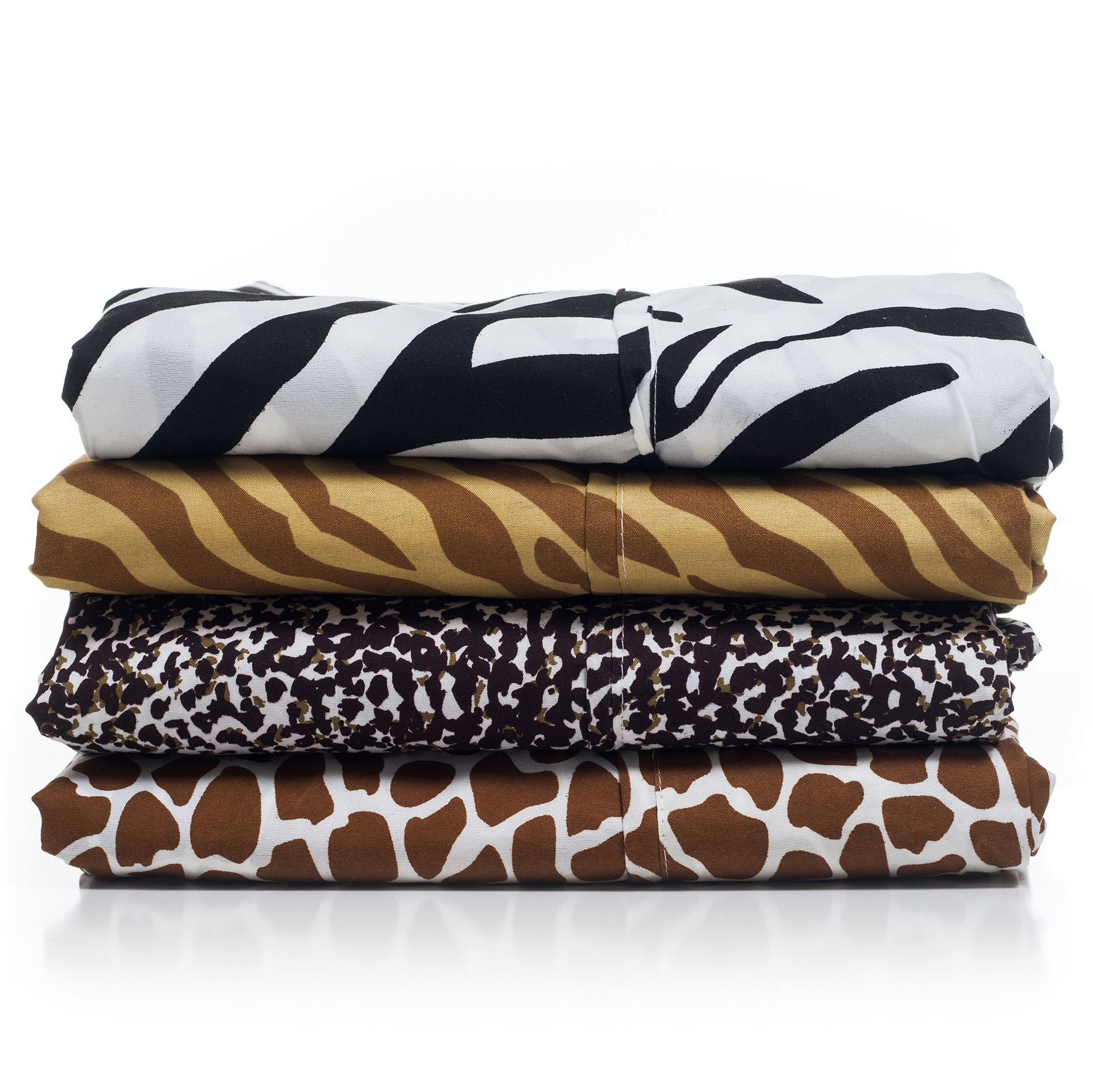 Windsor Microfiber Animal Print 4 Piece Sheet Set. As Expected