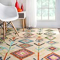 Hand Tufted Wool Moroccan Triangle Rug (5' x 8')