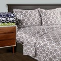 Superior 600 Thread Count Deep Pocket Printed Cotton Blend Sheet Set