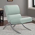Rialto Aqua Bonded Leather Chair