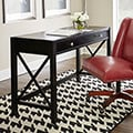 Clay Alder Home Peace River Writing Desk, Ebony with Rub Thru