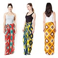 Women's Colorful Printed Sarong Wrap