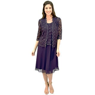 R&M Richards Lace Jacket Dress