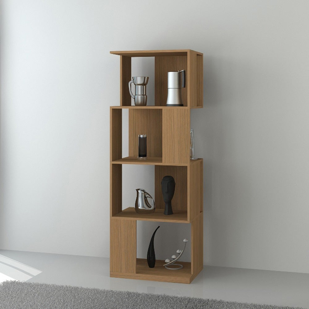 4-tiered Modern Display Bookcase Storage Cabinet
