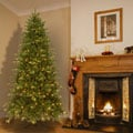 7.5-foot Pre-lit Deluxe Artificial Christmas Tree w/Clear Bulbs