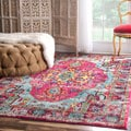 nuLOOM Distressed Abstract Vintage Oriental Multi Rug (5'3 x 7'7)