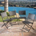 El Paso Outdoor Brown Wicker Folding Chair (Set of 4) by Christopher Knight Home