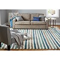 Havenside Home Orleans Stripe Blue Rug (5' x 8')