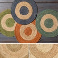Hand-Woven Canada Jute Rug (3' Round)