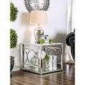 Furniture of America Mishie Contemporary Glass Top End Table