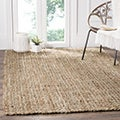 Safavieh Casual Natural Fiber Hand-Woven Natural/ Multi Jute Rug (5' x 8')