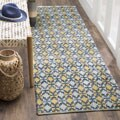 Safavieh Montauk Handmade Geometric Flatweave Gold/ Multi Cotton Runner (2' 3 x 6')