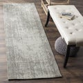 Safavieh Classic Vintage Silver/ Ivory Cotton Distressed Runner (2' 3 x 8')