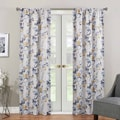Eclipse Paige Watercolor Floral Curtain Panel