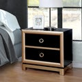 Furniture of America Lopex Contemporary Two-tone Black/Gold 3-drawer Nightstand