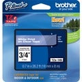 Brother TZ Series White on Clear Lettering Tape