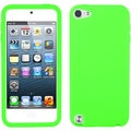 Insten Green Silicone Skin Gel Rubber Case Cover For Apple iPod Touch 5th/ 6th Gen