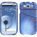INSTEN Blue Jeans/ Studs Phone Case Cover for Samsung Galaxy S III i747/ L710