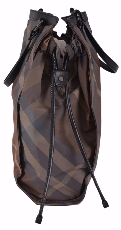 3cbde8d81df6 Shop Burberry Birch Grey Nylon Nova Check Packable Purse Bag Tote Shopper -  Brown Beige Check Camel Trim - Free Shipping Today - Overstock - 11664024