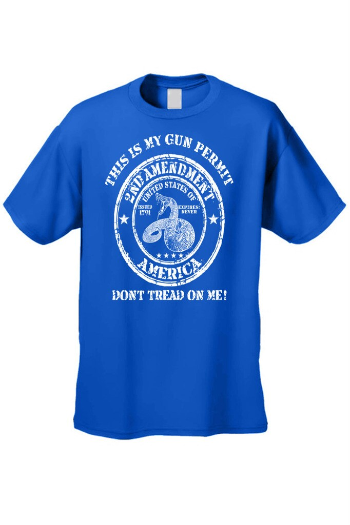 718b1496 Shop Men's T-Shirt Don't Tread On Me 2nd Amendment USA Gun Permit NRA Rifle  Tee - Free Shipping On Orders Over $45 - Overstock - 11599549