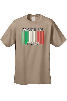 093677b1 Shop Men's Funny T-Shirt Made In Italy Humor Italian Pride Barcode Flag  Jersey Shores - Free Shipping On Orders Over $45 - Overstock - 11598579