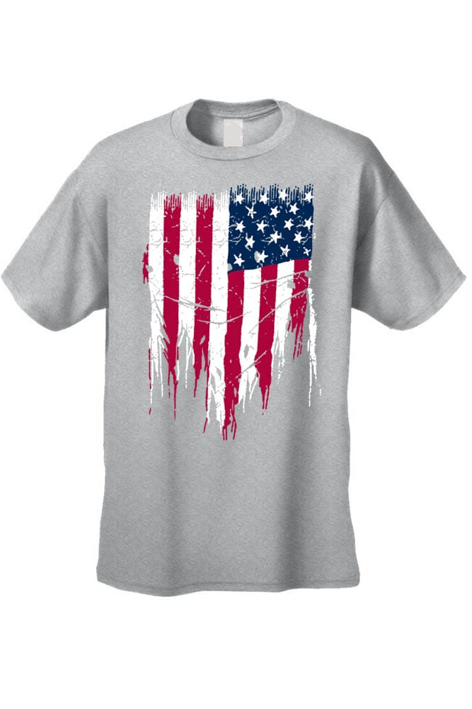 aa86c856 Shop MEN'S PATRIOTIC T-SHIRT Painted USA AMERICAN FLAG RED WHITE BLUE PRIDE  S-5XL TEE - Free Shipping On Orders Over $45 - Overstock - 11598568
