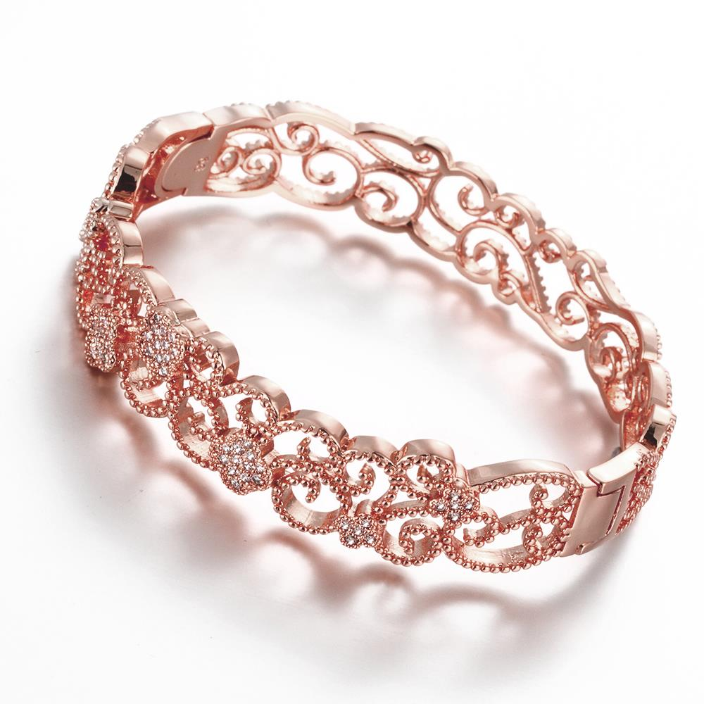 0b40963d1b5 Shop Vienna Jewelry Rose Gold Plated Hollow Laser Cut Classic Design  Inspired Bangle - Free Shipping On Orders Over $45 - Overstock - 11497491