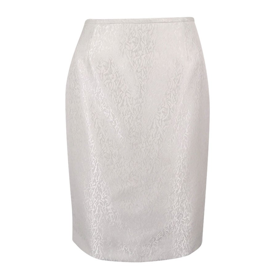 f55f7ce2ae Shop Tahari ASL Women's Beaded Skirt Suit Set - Pearl White - Free Shipping  Today - Overstock - 18029156