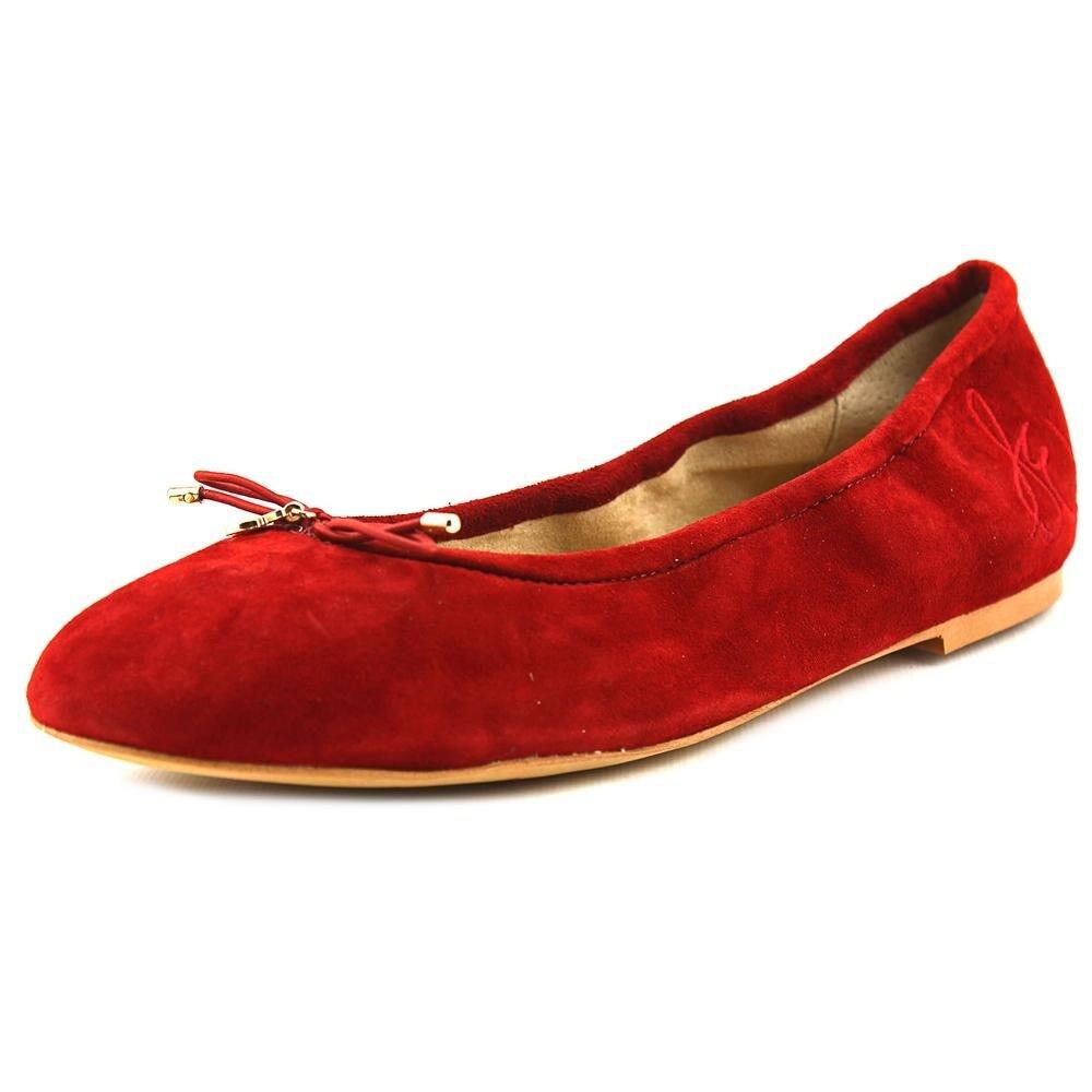 7fca0bcf7 Shop Sam Edelman Felicia Women Round Toe Suede Red Ballet Flats - Ships To  Canada - Overstock - 18281275