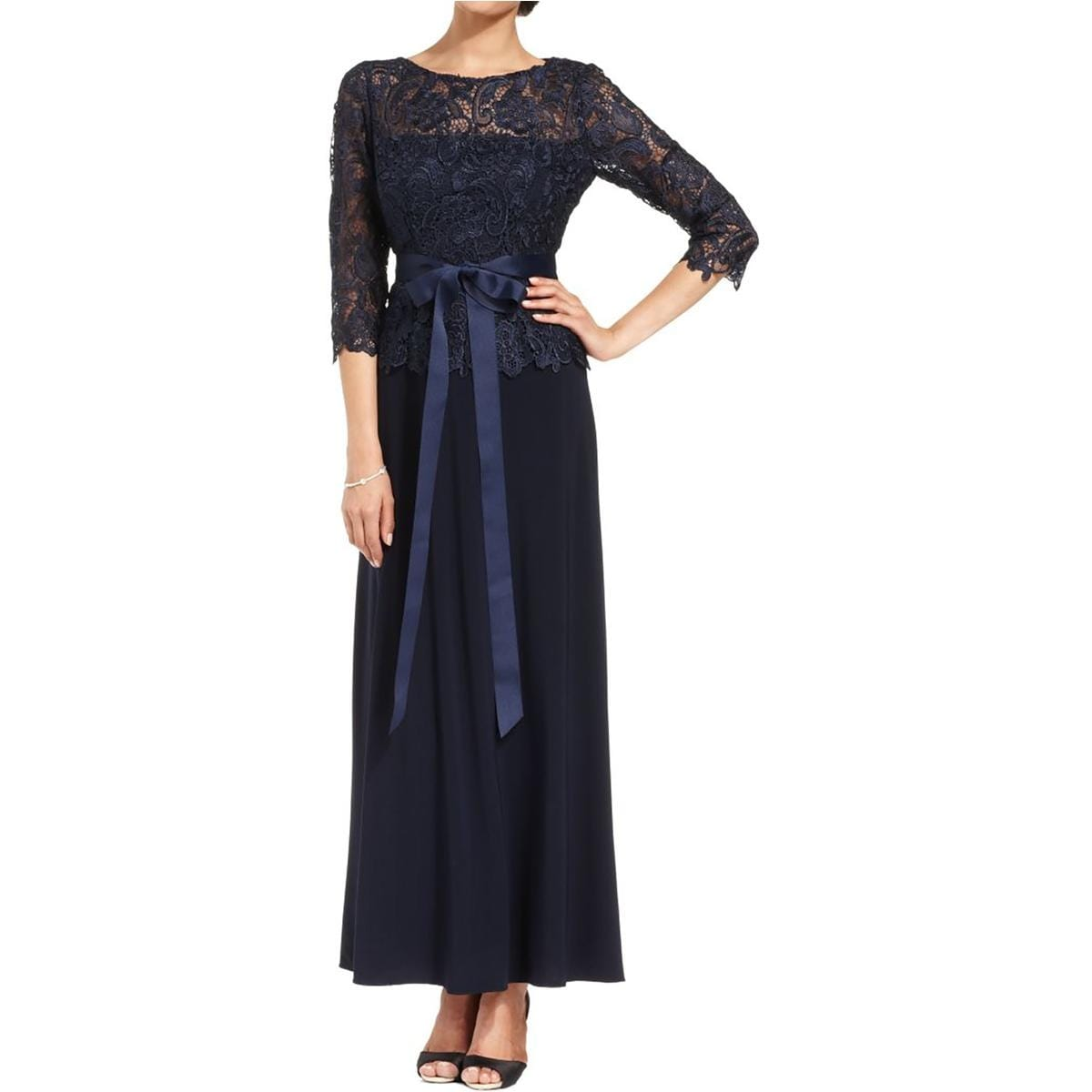 Patra Womens Mother Of The Bride Dress Lace 34 Sleeves Free