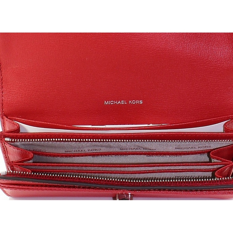 f58ea6c15e9b Shop Michael Kors Bright Red Rivington Stud Leather Large Wallet - Free  Shipping Today - Overstock - 22200678