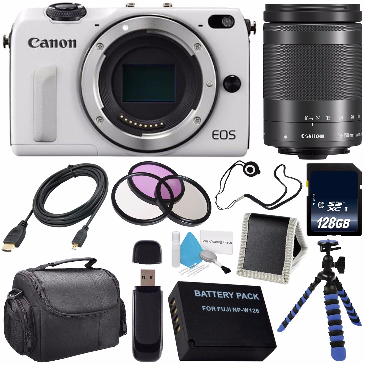 Shop Canon Eos M3 Mark Iii 242 Mp Mirrorless Camera International M10 Ef M 15 45mm Is Stm White Model No Warranty 18 150 Lens Bundle Free Shipping Today