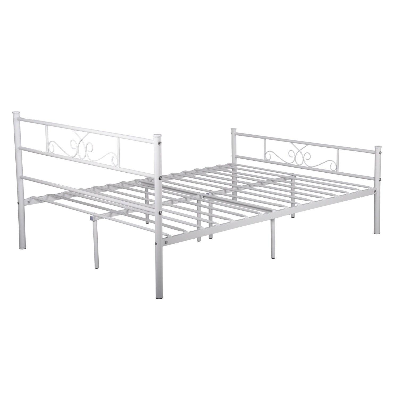 Cheerwing Easy Set-up Premium Metal Bed Frame Platform Box Spring ...