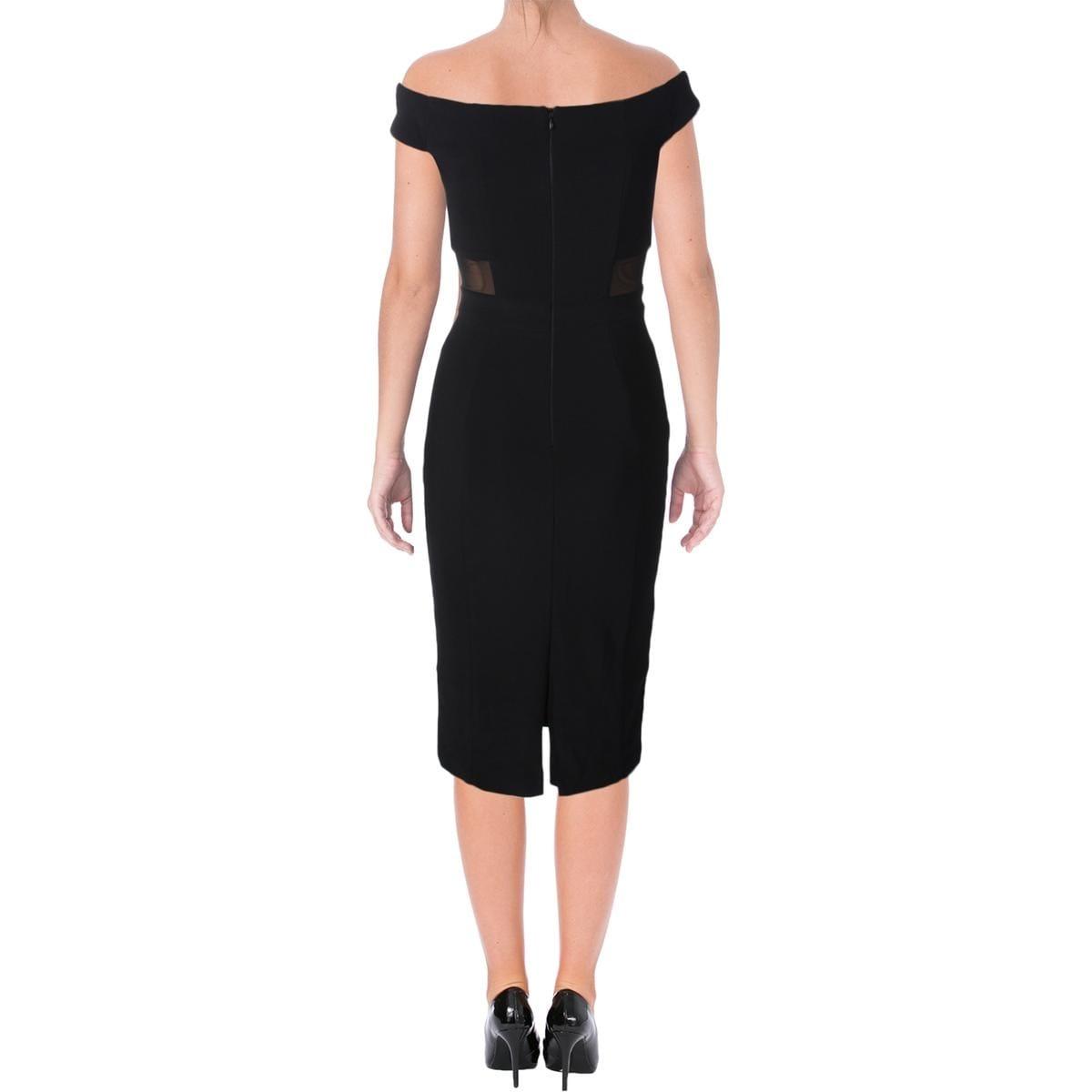 Shop Aqua Womens Cocktail Dress Ponte Illusion - Free Shipping On ...