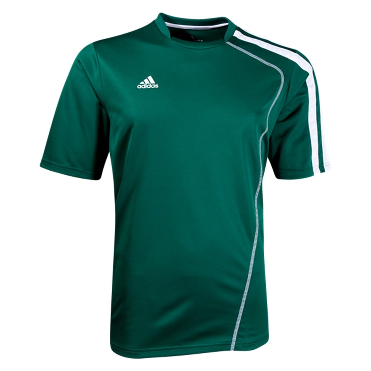 hot sale online cabd9 62324 Adidas Boys Sossto Soccer Jersey T-Shirt Forest White Size Youth - Green