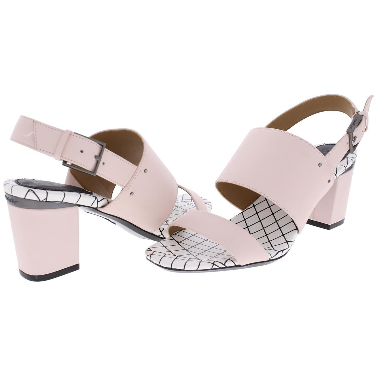 7e74782a236e Shop Calvin Klein Womens Corina Dress Sandals Leather Open Toe - Free  Shipping On Orders Over  45 - Overstock - 21027929