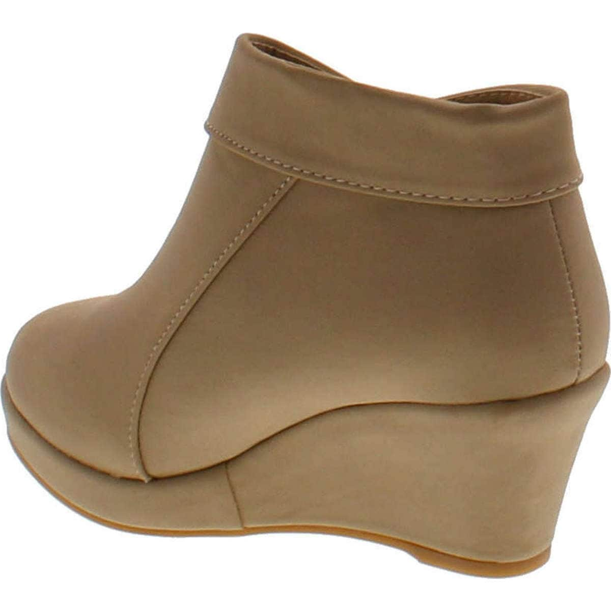 ac3ef11df794 Shop Lucky Top Stella-6K Children Girl s Platform Wedge Heel Fold Over  Ankle Booties - Free Shipping On Orders Over  45 - Overstock - 14756846