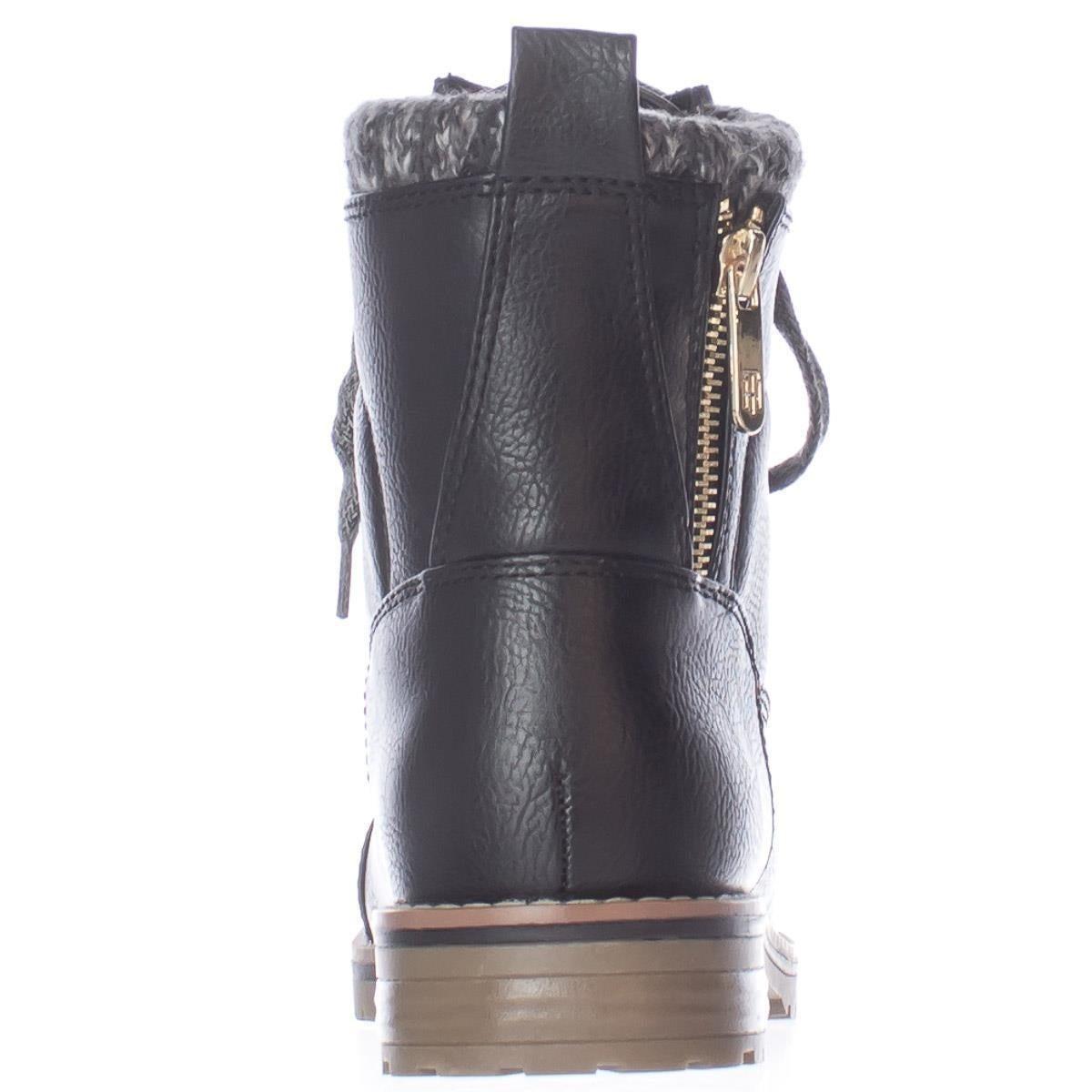 aa03a781bc1ab Shop Tommy Hilfiger Omar2 Knit Top Combat Boots