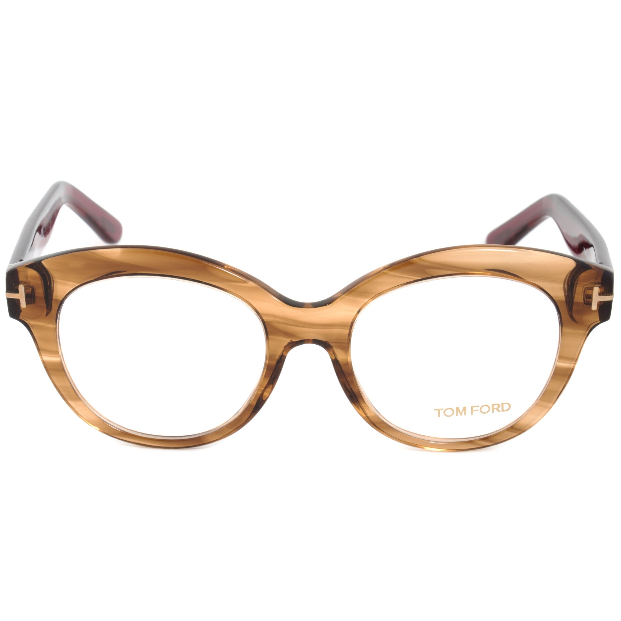 Tom Ford FT5377 48 Round | Brown/Burgundy| Eyeglass Frames - Free ...