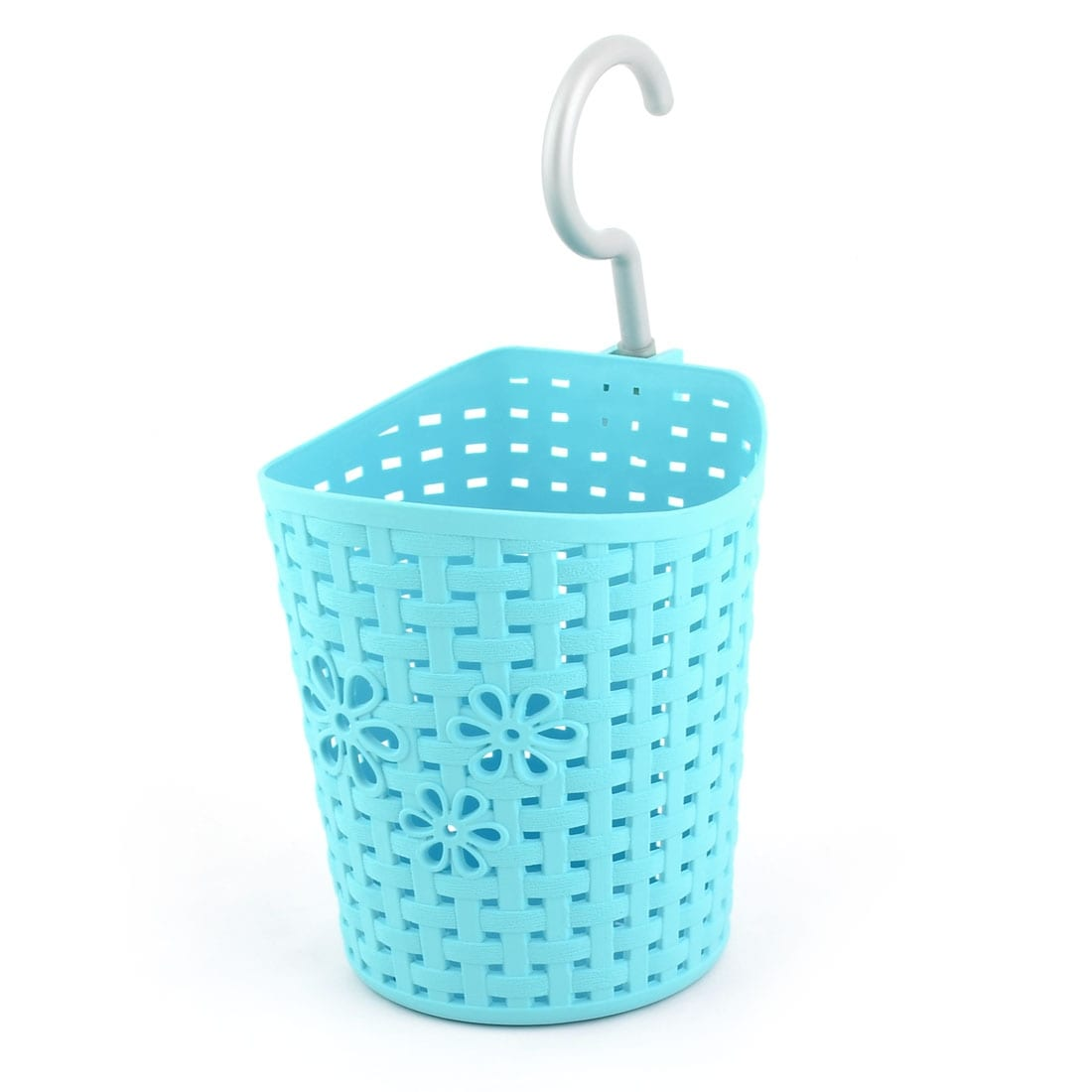 Shop Kitchen Plastic Flower Hollow Out Design Hanging Storage Basket ...