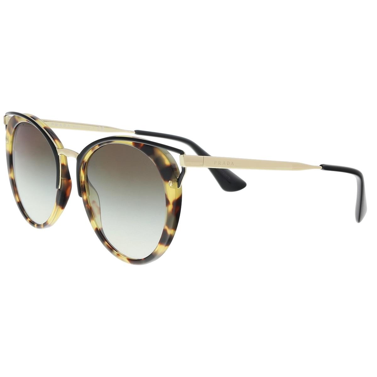 163d01685ceb Shop Prada PR 66TS 7S00A7 Medium Havana Cat eye Sunglasses - 54-20 ...