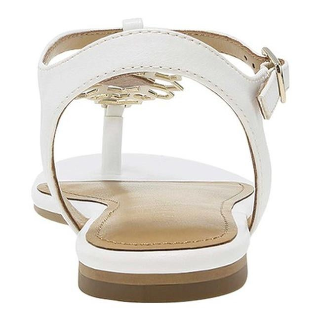 be2812509 Shop Aerosoles Women s Short Stack Flat Sandal White Faux Leather - Free  Shipping On Orders Over  45 - Overstock - 21152941