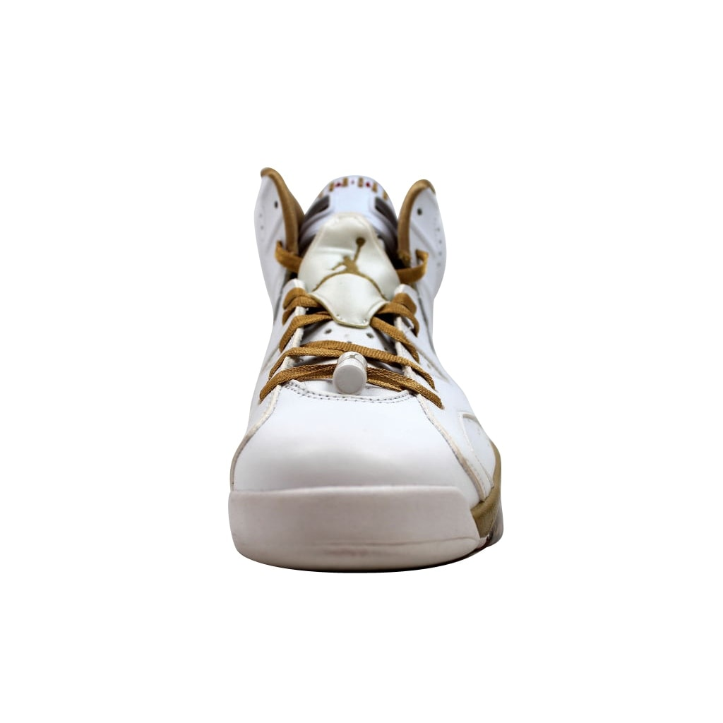newest 47da8 05c62 Shop Nike Men s Air Jordan VI 6 Retro White Metallic Gold GMP Golden  Moments Pack 384664-135 - Free Shipping Today - Overstock - 20131724