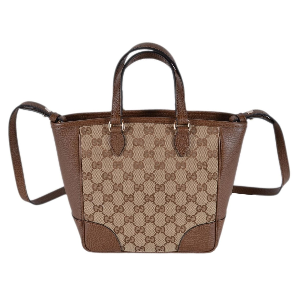 1ea8b2e24fd3 Shop Gucci Women s 449241 Beige Brown Small Bree GG Guccissima Crossbody Bag  - Free Shipping Today - Overstock - 24336649