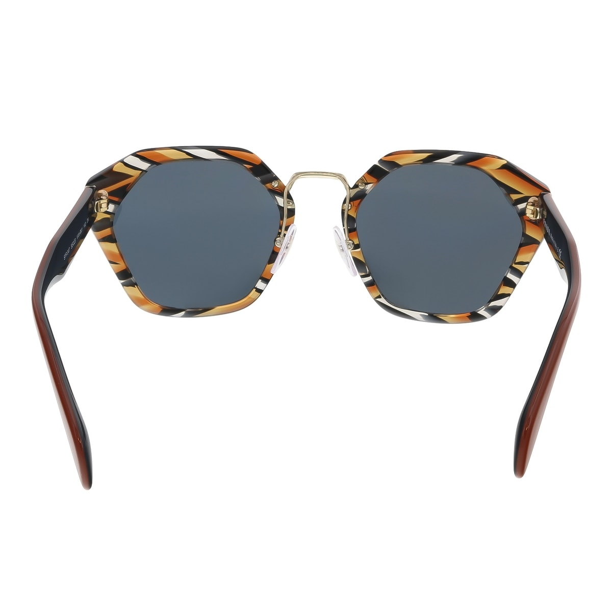 3db5b46187b Shop Prada PR 04TS VAN9K1 Sheaves Grey Orange Square Sunglasses - Multi -  55-23-140 - Free Shipping Today - Overstock - 15326290