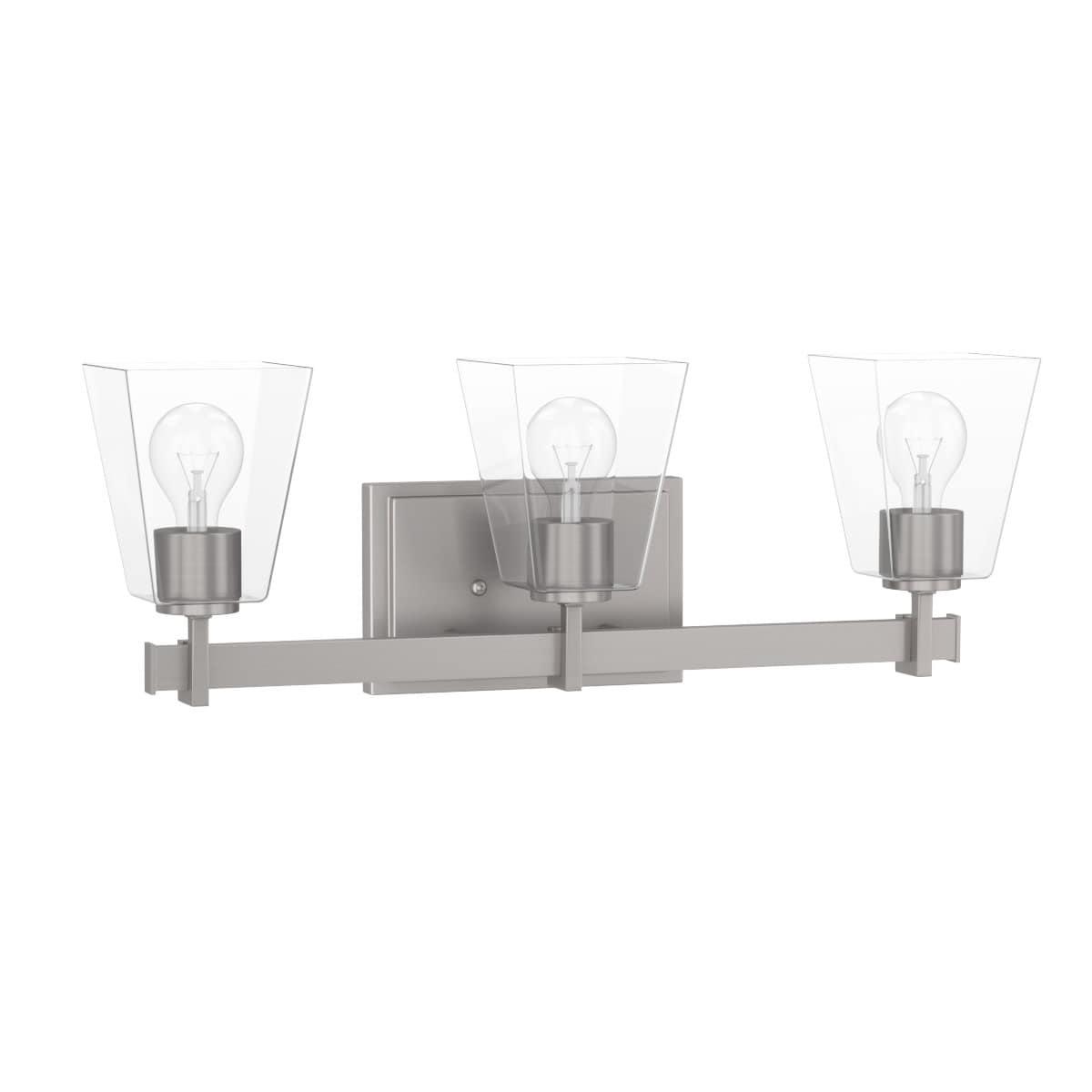 Park harbor phvl3023 hoxton 3 light 22 3 8 wide bathroom vanity light with clear glass shades