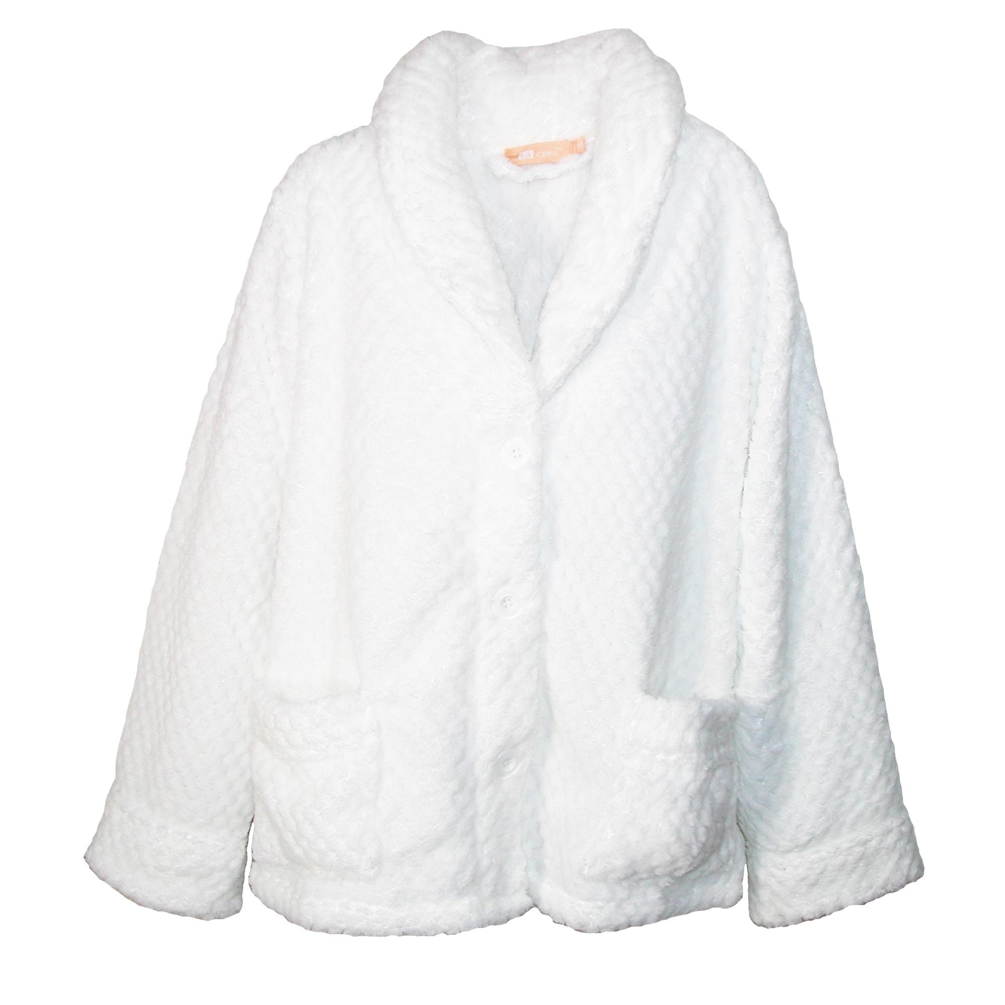 b37a8a050426e Shop La Cera Women s Plus Size Button Front Bed Coat - Free Shipping ...